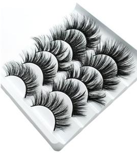 NOUVEAU 5pairs Faux 3D Vison Cils Faux cils épais naturel longs Cils Cils Extension Wispy Maquillage Beauté 5style DHL gratuit