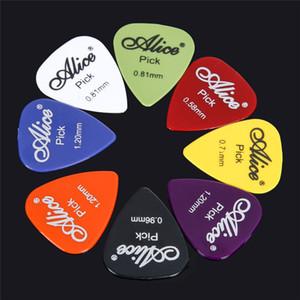 50 pçs / set guitarra elétrica escolher palhetas de música acústica plectro 0.58 / 0.71 / 0.81 / 0.96 / 1.20 / 1.50mm espessura guitarra acessórios