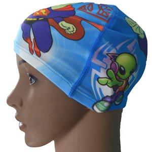 Factory Price High Grade Digital Printing Swimming Cap Cartoon CHILDREN'S Swimming Cap Men And Women Swim Cap Individual Package