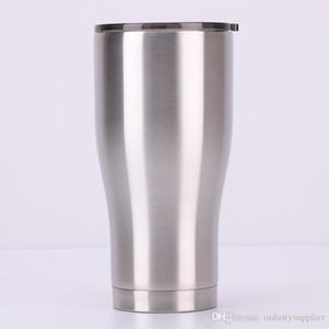 20 oz Coupe courbe bouteille en acier 30 oz Tumbler isolé inoxydable eau potable Tasse Réfractaire multicolore en verre avec LidA02