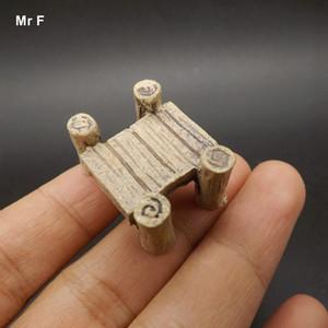 Artificielle Mini Plank Pont Style de modèle Décoration Résine Jouet Enfant