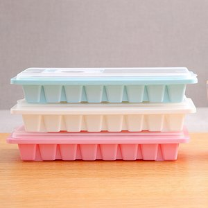 16 Cavity Ice cube tray 2018 hot Ice Cube Box With Lid Cover Drink Jelly Freezer Mould ice Maker Stocked Kitchen Tools GIFT#20