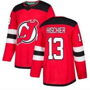 Personalidade Devils 9 Home Red Home Stitched Jersey, Treinadores 30 Brodeur 13 Hischier 35 Schneider Hockey Jersey Lojas Online