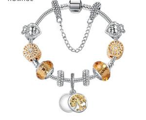 Charm Bracelet perles en argent 925 Bracelets Pandor vie Arbre Pendentif Bracelet Charm Pandor Or Perle en cadeau avec la boîte Bijoux Diy