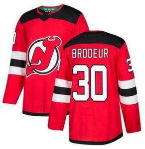Devils 13 Hischier Red Home Stitched Jersey, treinadores 30 Brodeur 13 Hischier 9 Hall 35 Schneider Hockey Jersey Lojas Online