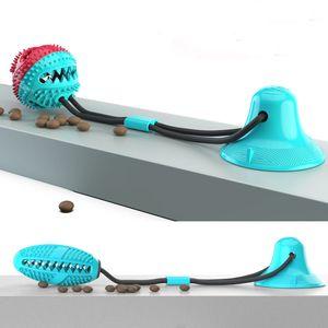 Pet Molar Biss Spielzeug mit Saugnapf Suction Gummi Chew Kugel Reinigung Zähne Kugel für Hund Durable Hund Schlepper Seil-Kugel-Spielzeug