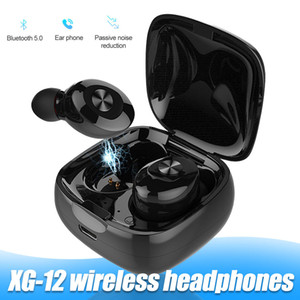 XG-12 TWS Bluetooth-Kopfhörer BT5.0 Wireless In-Ear-Stereo-Kopfhörer Bass mit Dual-Mic Sport Earbuds für Android Phone in Kleinkasten
