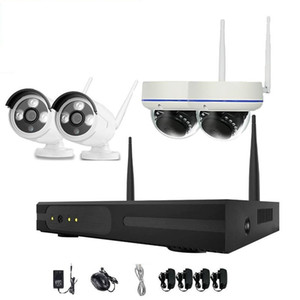 4pcs 4CH Wireless Security Camera System WiFi Camera Kit NVR 720P Night Vision IR-Cut CCTV Home Surveillance System Waterproof