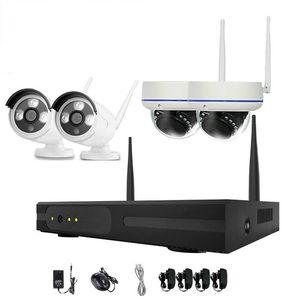 Sistema de Câmera 4pcs 4CH Segurança Wireless WiFi Camera Kit NVR 720P Night Vision IR-Cut CCTV Início Sistema de Vigilância Waterproof