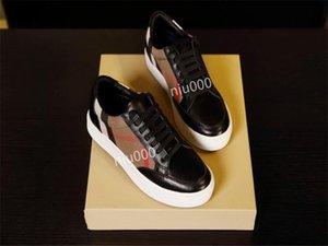 Burberry shoes Chaussures de luxe Sneaker Hommes High Top Ace Sneakers Mode réel Baskets en cuir pour homme Designer Casual Shoes avec bbr200416