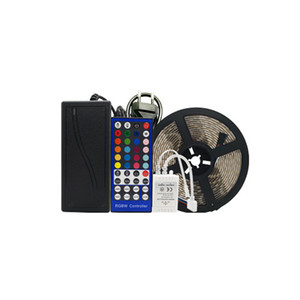 RGBWW RGBW LED Strip Light 5050 DC 12V Waterproof 5M 60 LEDs m Ribbon Led Lamp Diode Tape + 40 keys Remote Controller + Adapter