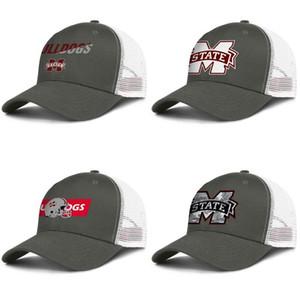 Mississippi State Bulldogs gris camuflaje para hombre y para mujer de camionero Logo ajustable a medida TAPAMALLA Armarios personalizados Fútbol único