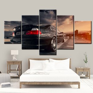 5 pintura do painel do carro E46 Sports Home Decor Para Living Room Imagem Wall Art Canvas Artwork Modular Modern