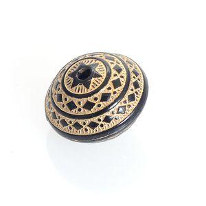 En gros 120 Pcs / Lot 16x22MM Cannelure Vintage ondulée Placage Disque Acrylique Antique Design Perles DIY Bijoux Making Accessoires