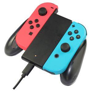 Os mais recentes Joy Con-Joystick carregamento aperto Banco Portable Power suporte carregador Chargeable para Nintendo Nintend Mudar NS Pega