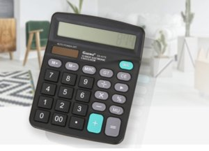 2 true solar calculators, large screen dual power financial accounting office computer, stationery