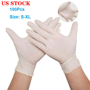 US Stock Free Ship! Disposable gloves 100pcs lot Protective Nitrile Gloves Factory Salon Household Rubber Garden Cleaning Gloves