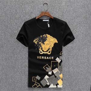 Скидка магазин Черного пятницы мужской футболка бренд одежда монограмма печать футболка модельера люди типа T-shirtL13