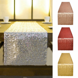 Table Runners Wedding Party Decorations Shining Sequins Tablecloths Gold Silver Champagne Sequin Table Runner Flag