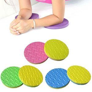 2PCS Plank allenamento Knee Pad Cuscino rotondo Schiuma Yoga Eliminare ginocchio polso Elbow Pain Esercizio Mats
