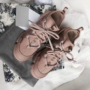 New Season Designer Shoes Fashion Women Shoes Leather Lace Platform Oversized Sole Sneakers White Black Casual Shoes