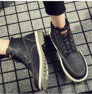 2019 Automne Hiver Bottes Hommes Early Chaussons Chaussures Jeunes hommes Bottes Street Fashion Chaussures Homme simple Bottines