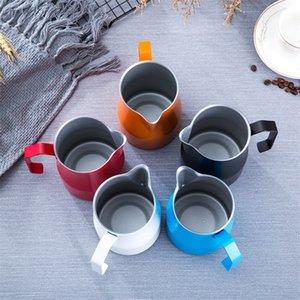 350 / 550ml italiano Teflon Café jarro de aço inoxidável Jarro de Leite Frothing Pitcher Pull Flower Cup Espresso Para Barista