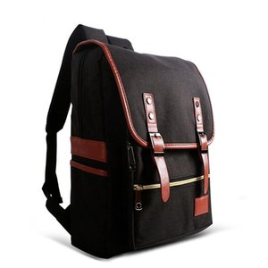 Universal Multi-Function Canvas Cloth Laptop Computer Shoulders Bag Business Backpack Students Bag, Size: 42x29x11cm, For 14 inch and Below