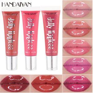 Labios Handaiyan Plumping brillo de labios hidratante cereza Mineral aceite claro brillo de labios Labio Glitter Lipgloss Tubos nutritivas barras de labios líquidos