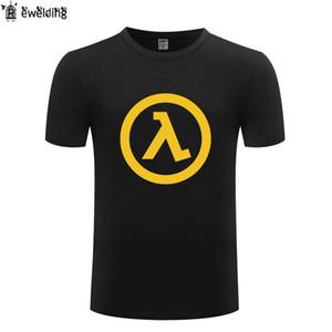 لعبة Half Life 2 طبع رجل t قميص جديد الصيف تي شيرت الرجال القطن قصير الأكمام س الرقبة شيرت الشارع الشهير تي شيرت أوم blusas