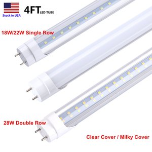 Tube LED T8 Tubes 18W 22W 28W Tube fluorescent à LED Lampe 4ft 4Feet 1.2M SMD2835 6500K Dual-End Powered