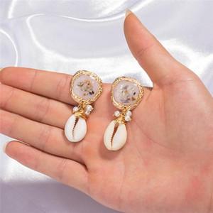 산호 귀걸이 수지 타고난 돌 쉘 귀걸이 쥬얼리 여성 귀걸이 패션 보석 선물 350202 드롭