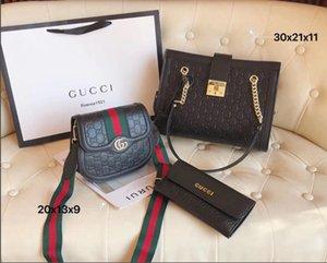 Frauen 2020 hochwertige crossbody Tasche Luxus Designer Frauen Taschen Dreiteiliges Set Handtasche Geldbörsen Damen Handtasche Tragetasche