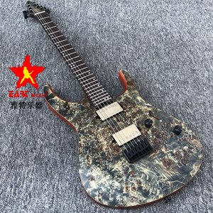 in stock EART shaped electric guitar, rosewood body, bright gray matte paint, arbor maple veneer guitar, walnut neck, free shipping