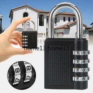 80 * 43 * 14 mm Heavy Duty 4 marcación de dígitos cerradura de combinación de protección resistente a la intemperie de candado de seguridad de forma segura al aire libre Gimnasio código de bloqueo Negro