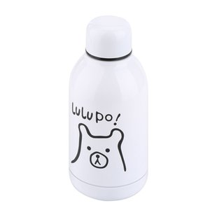 300ml Cartoon Vacuum Water Bottle Mini Portable Travel Cup Bottle Stainless Steel Thermol Bottle For Kids & Adults