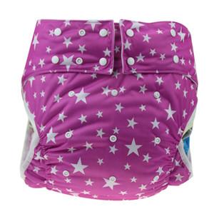 14 Couleurs Adulte Imprimé Lavable Couches Pantalon En Tissu Étanche Fuite Bouton Taille Réglable Personnes Âgées Pantalon De Soins Infirmiers Couches