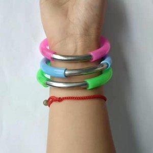 Creative-Silikon-Armband Straw Edelstahl im Freien beweglichen Armband Trinkhalm-Folding-Armband Trinkhalm RRA2582