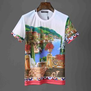 Venta caliente Medusa Europa Carta americana Imprimir Camisetas para hombre Homme camiseta elástica Camisas de lujo diseñador manga corta ropa masculina negro blanco