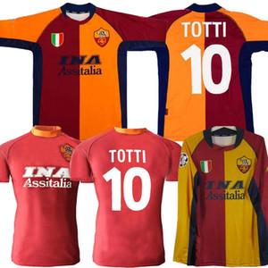 2000 2001 2002 camiseta de fútbol RETRO roma 00 01 02 TOTTI BATISTUTA Candela Montella conmemorar clásico Colección roma Maglia da calcio