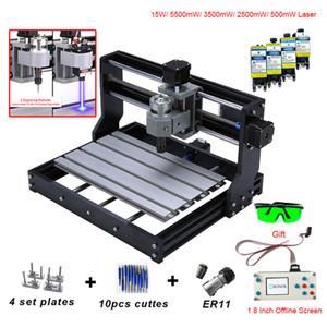 CNC 3018 PRO Mini Laser Engraver Avec ER11 GRBL routeur CNC pour Hobby Machine de gravure en bois PCB PVC CNC3018 Graveuse
