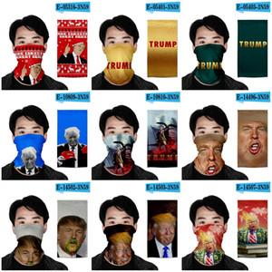 Дональд Трамп Магия повязок 3D цветной печати 2020 Выборы президента США пыле Защитная маска Шарф Наружная ободки 40 Конструкция 7oh E19