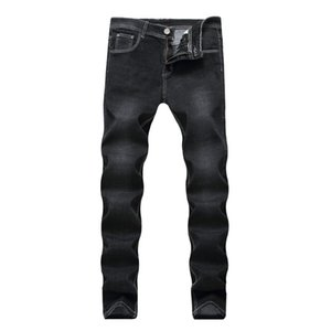 Pure Color Men Casual Black Jeans Hombre Slim Straight Elasticity Overalls Pants Male Skinny Jeans Men