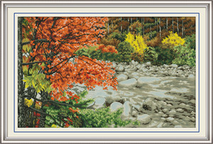 Maple River Kit point de croix à la maison, croix kits main point de broderie Needlework compté impression sur toile DMC 14CT / 11CT
