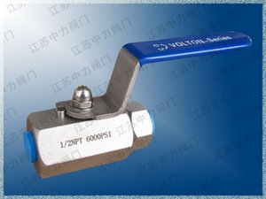 V-type A105 high pressure internal thread ball valve