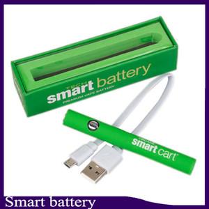 Smart Cart Battery Vape Pen 510 Резьбовые картриджи 380 мАч Переменное напряжение предварительного нагрева Батареи Smartcart с зарядным устройством USB 0266267-1