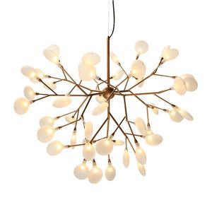 Modern firefly LED Avize işık şık ağacı dalı avize lamba dekoratif firefly tavan avizeler asılı Aydınlatma