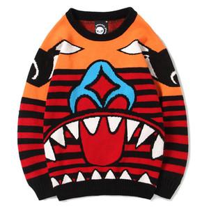 Vente chaude Nouveau Avec Clown Jacquard tricot pour rendre un col roulé Boy Sets casaque Big Yards tricot Motif Casual Hommes Pull V191022