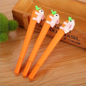 gel pen kid stationery cartoon 0.5mm Cute Cartoon Creative White Rabbit Love Carrot Students Black Neutral Pen Office Signature