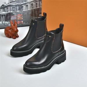 المرأة الأحذية الجلدية Beaubourg لالكاحل الأحذية المصنع مباشرة الإناث الخام كعب جولة رئيس الخريف فصل الشتاء الأحذية مارتن SIZE35-42